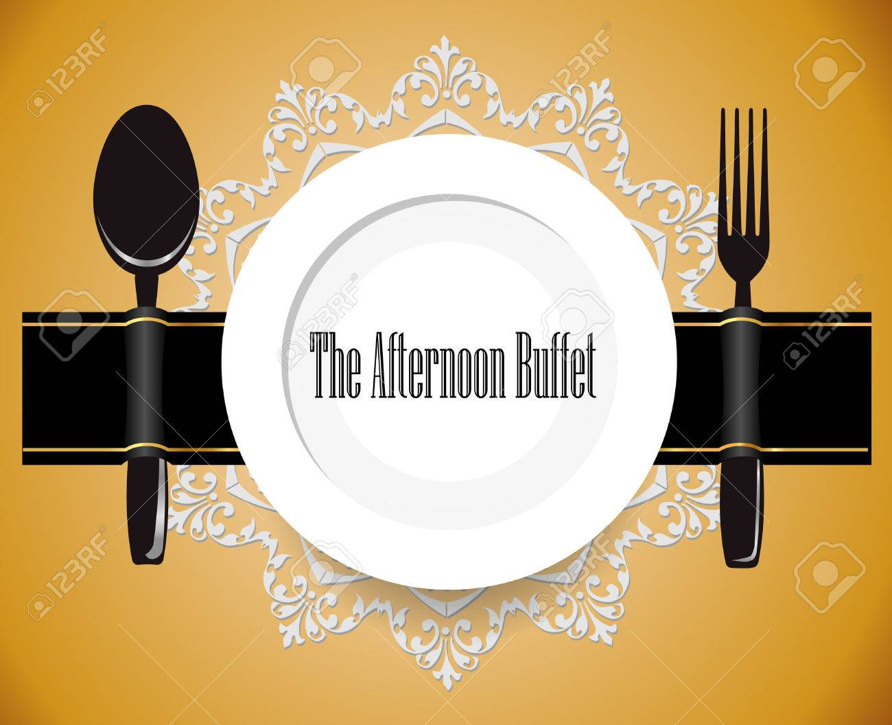 36710180-the-afternoon-buffet-lunch-all-you-can-eat-buffet-sign-vector-eps10